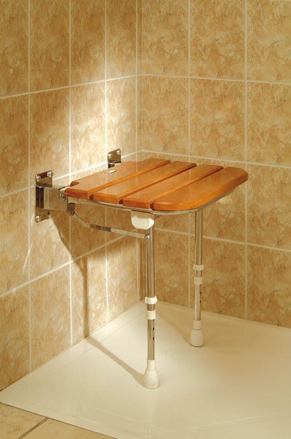 Wooden Wall Mounted Shower Seat CareProdx