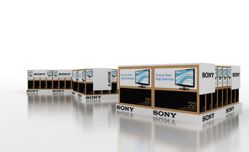 Low Display Plinth 900mm W x 800mm D x 100mm H