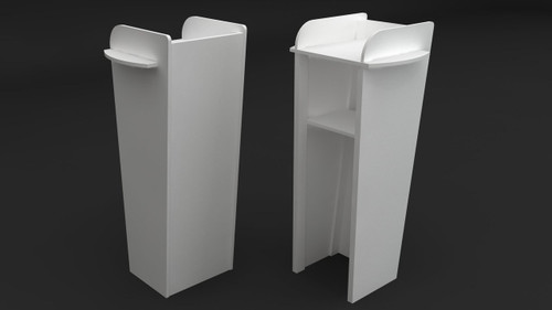 Quick Setup Speaker Lectern 600mm W x 500mm D x 1320mm H