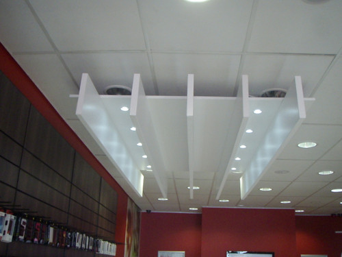 Slatted beam bulkhead with Ceiling 2940mm W x 1780mm D x 380mm H