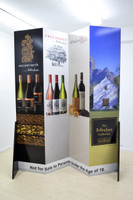 ZIg Zag Wall Display 2120mm W x 580mm D x 2400mm H