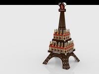 Eiffel Tower FSU stand 780mm W x 780mm D x 1630mm H