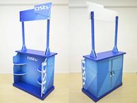 Lockable Promo Table 1100mm (w) x 596mm (d) x 2200mm (h)
