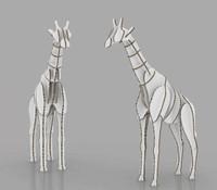 Half size Giraffe 430mm (w) x 1450mm (d) x 2030mm (h)