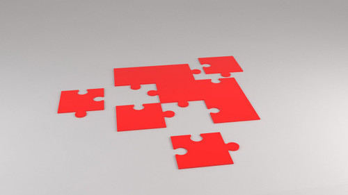 Simple 9 piece puzzle 1150mm (w) x 1150mm (d) x 10mm (h)