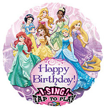 "Disney Princess singing balloon. Bouquet includes 4, 18"" mylar balloons (not pictured)."