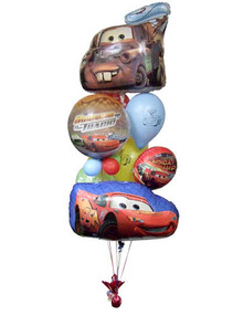 Cars Birthday Balloon Bouquet