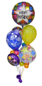 Birthday Cheer Singing Balloon Bouquet