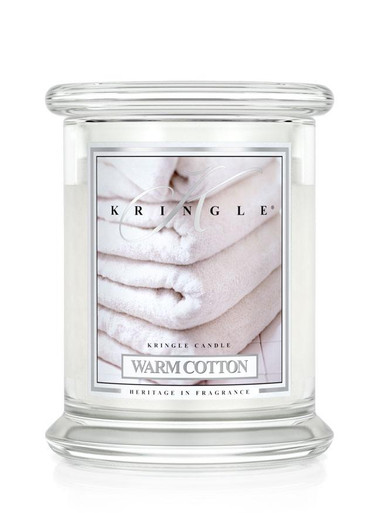 Kringle Candle Warm Cotton, Medium 2-Wick Classic Jar Candle 16 oz