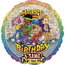 Rappers Delight Birthday Singing Balloon