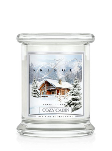 Kringle Candle Cozy Cabin 8.5 oz Small Classic Jar