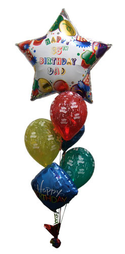 Personalized Age & Name Birthday Balloon Bouquet