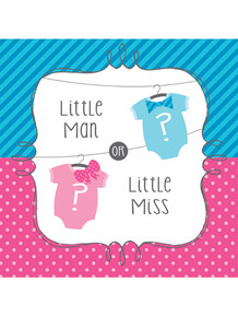Gender Reveal Luncheon Napkins