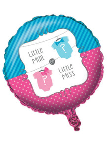 Little Man or Little Miss 18 inch Foil Balloon