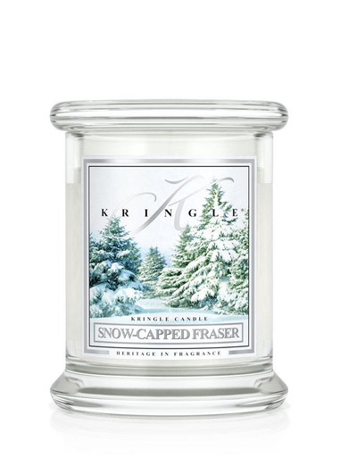 Snow Capped Fraser Kringle Candle, Small Classic Jar 8.5 oz