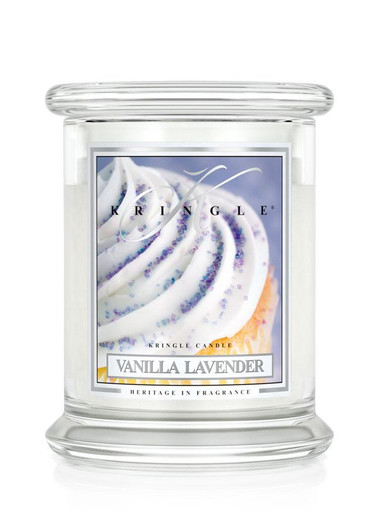 Kringle Candle Vanilla Lavender, Medium 2-Wick Classic Jar 16 oz