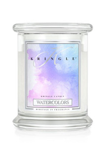 Kringle Candle Watercolors, Medium 2-Wick Classic Jar Candle 16 oz
