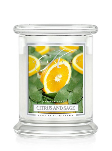 Kringle Candle Citrus & Sage Medium 2-Wick Classic Jar 16 oz