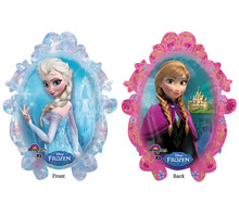 Frozen Balloon- Elsa and Anna (2-sided, uniflated)