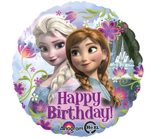 "Frozen Balloon- 17"" Happy Birthday (Uninflated)"