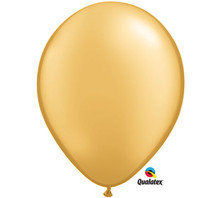 "11"" Metallic Gold Latex Balloons"