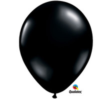 "11"" Qualatex Onyx Black Latex Balloons"