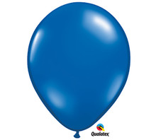 "11"" Qualatex Sapphire Blue Latex Balloons"