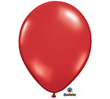 "11"" Qualatex Ruby Red Latex Balloons"