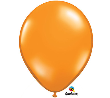 "11"" Qualatex Mandarin Orange Latex Balloons"