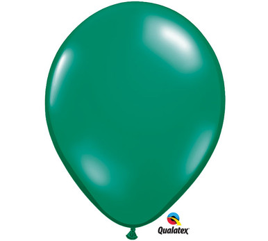 "11"" Qualatex Emerald Green Latex Balloons"
