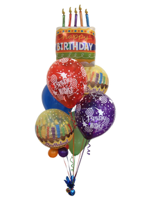 Big Birthday Wishes Balloon Bouquet