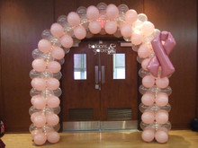 Breast Cancer Balloon Arch