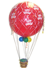 Birthday Hot Air Balloon Basket