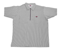 Grey Stripe 1/4 Zip Short Sleeve Shirt 179