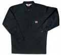 Black Solid 1/4 Zip Long Sleeve Shirt 224