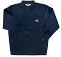Navy Solid 1/4 Zip Long Sleeve Shirt 268