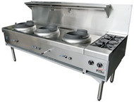 GOLDSTEIN CWA3B2 Gas Air Cooled Wok With Two Side Burners. Weekly Rental $86.00
