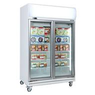 Bromic UF1000LF Glass Door Fan Forced Freezer 976 Litre With Lightbox. Weekly Rental $52.00