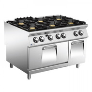 Mareno ANC9FG12G52 Star 90 Series 1200mm Wide 6 Burner Gas Range w/ Gas Oven & Neutral Cabinet. Weekly Rental $94.00