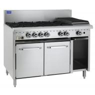 Luus Essential Series CRO-8B. Gas Oven With 8 Gas Burners. Weekly Rental $65.00