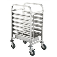 SINGLE LOW GASTRONORM TROLLEY -6 TRAY