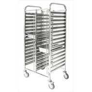 DOUBLE GASTRONORM TROLLEY -2 X 16 TRAYS