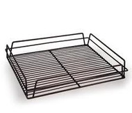 RECT GLASS BASKET -BLACK PVC COATED