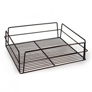 RECT HIGH SIDED GLASS BASKET -BLACK PVC COATED