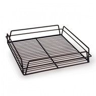 SQUARE GLASS BASKET -BLACK PVC COATED