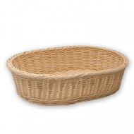 BREAD BASKET-OVAL, POLYPROP 380x270x90mm