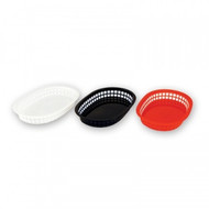 BREAD BASKET-PLASTIC, RECT BLACK