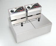 Roband - F25 - DOUBLE PAN DEEP FRYER -2x5 Litre. Weekly Rental $9.00