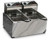 Roband - F28 - DOUBLE PAN DEEP FRYER -2x8 Litre - 15 AMP. Weekly Rental $10.00