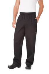 Black Cotton Designer Pants